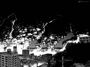 Magatama Town Being Destroyed