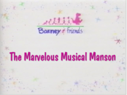 The Marvelous Musical Mansion title card (Barney version)