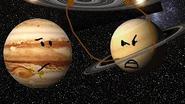 Jupiter watching Saturn abusing J1407b