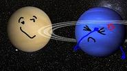 Neptune facepalming at Venus