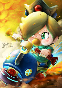 Baby rosalina my charater on mario kart 8 online by fineoart-d8i8572