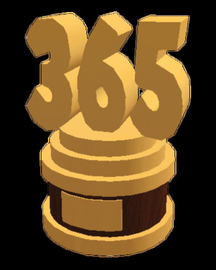 365 Visits Trophy Welcome To Bloxburg Wikia Fandom