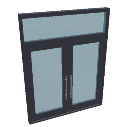 Tall Transom Double Door Welcome To