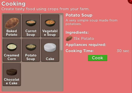Cooking Welcome To Farmtown Wiki Fandom