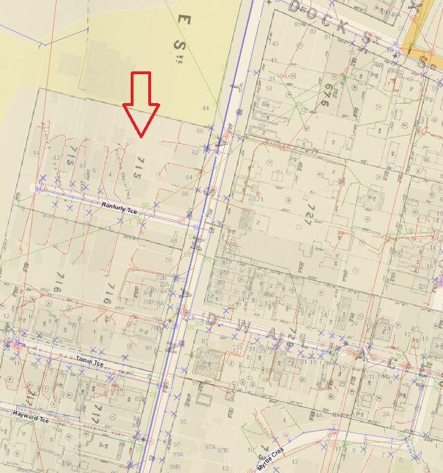 Tasman Street - Section 715 - 1892 Survery Map WCC-0
