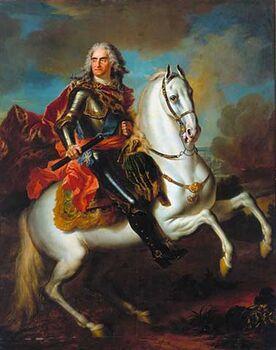 König auf Pferd