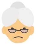 Icon grumpy grandma filled