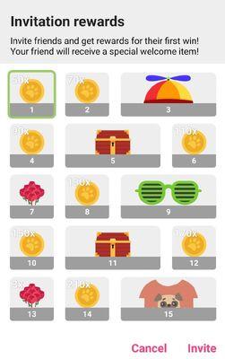 Friend Reward List