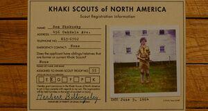 Sam Shakusky's Khaki Scout Registration