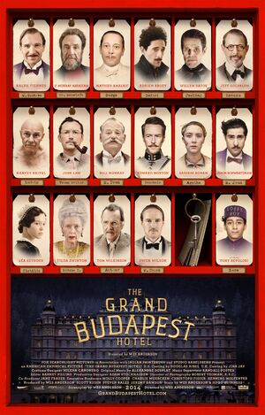 Grand Budapest Hotel character poster