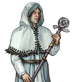 Human Mage white Potrait