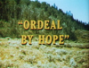 Ordeal by Hope