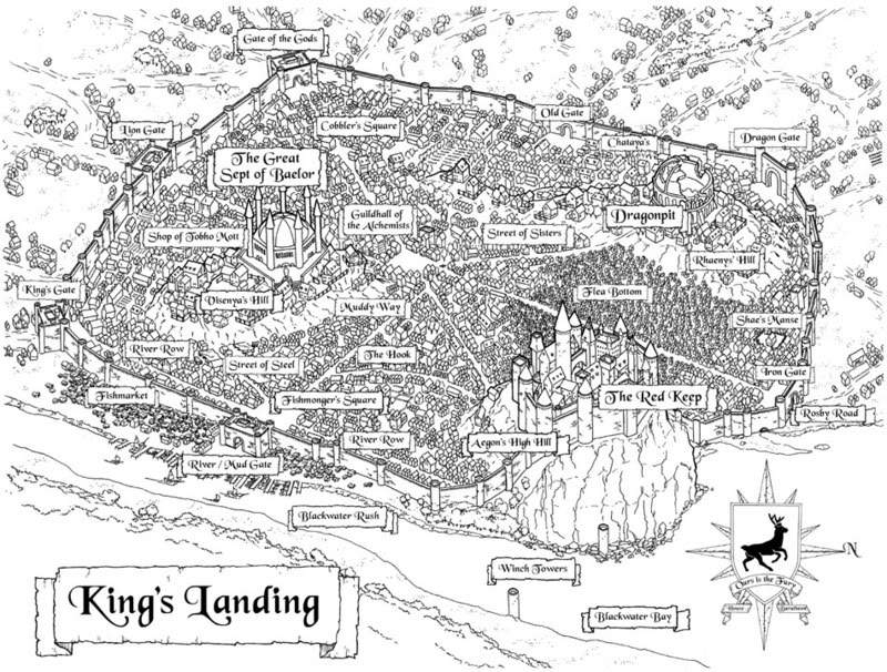 King\'s Landing Map King's Landing | WesterosCraft Wiki | FANDOM powered by Wikia