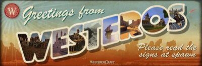 WesterosCraft Postcard