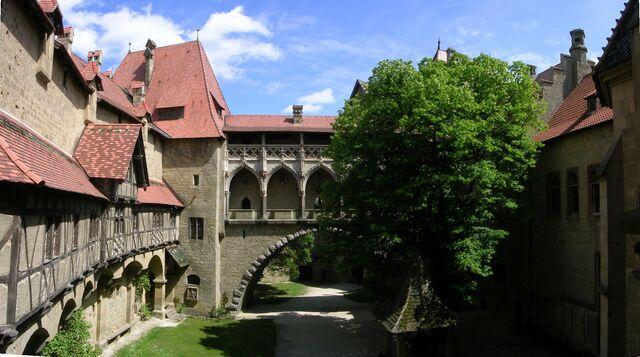 File:Burg Kreuzenstein - Panorama Burghof.JPG