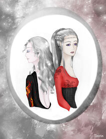 Rhaena and baela targaryen by tinrin-d7ckxrx