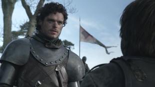Richard Madden as Robb Stark on Game of Thrones S01E09