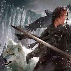 Jon Snow rozwiązuje nogi Ygritte.