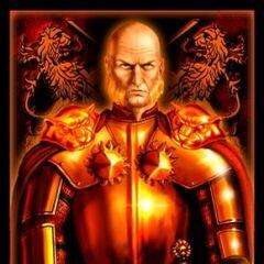 Karta przedstawiająca Tywina Lannistera.