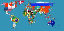 World with flags