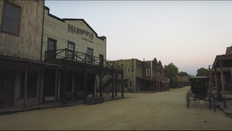 Sweetwater set horse buggy and tobacco store by saloon
