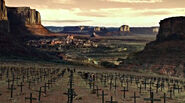 Field of crosses overlooking Pariah