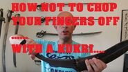 NOT slicing your fingers with Gurkha Kukri Knives