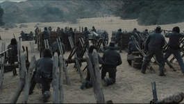 Fort forlorn hope confederados prepared for defence