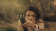 The Raj Emily firing shotgun