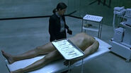 Autopsy gurney woodcutter