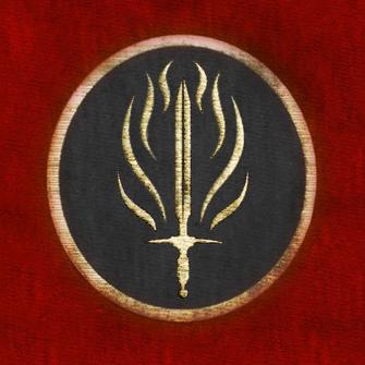 Red templar banner