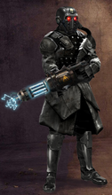 Black Guard With Tesla Cannon