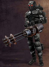 Female Black Guard Minigun