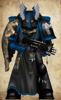 GK MK VII Armor With Bolter Wolf Pelt