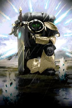 Ebon Knight Primaris Looking for His Prey
