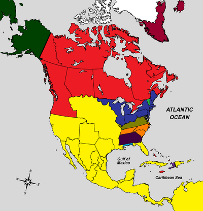 Map of North America 1801