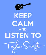 Keep calm and listen to taylor swift by elyssefray111-d50opym