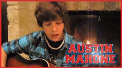 """Baby"" Justin Bieber cover - 14 year old Austin Mahone with lyrics"