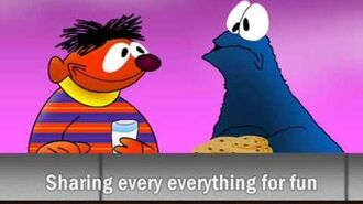 """Ernie and Cookie Monster singing """"Share"""""""