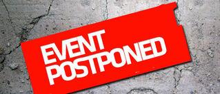 Banner postponed