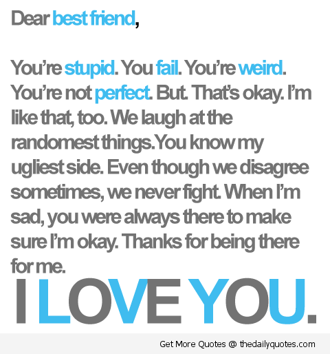 I Love You Best Friend Friendship Quotes Sayings Pics.png