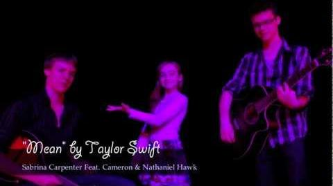 """Mean"" cover by Sabrina Feat. Cameron & Nathaniel Hawk"