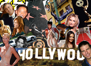 Hollywood Celebrities Collage by ThePurplePyroHedgie