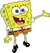 Spongebob happy