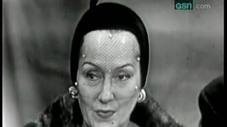 What's My Line? - Bennett Cerf's first show! - Gloria Swanson (Oct 15, 1950)