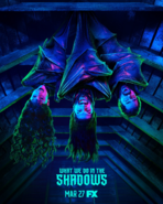 What We Do in the Shadows hanging bats poster
