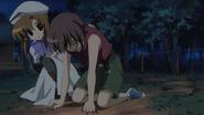 Rena comforts Keiichi