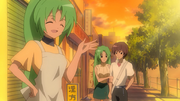 Keiichi Meets Mion with Shion