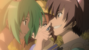 Mion convinces Keiichi