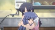 Rika and Mom Embrace